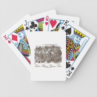 Let's Have Some Tea Wonderland Alice Haigha Hatta Bicycle Playing Cards