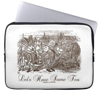 Let's Have Some Tea Wonderland Alice Haigha Hatta Computer Sleeve