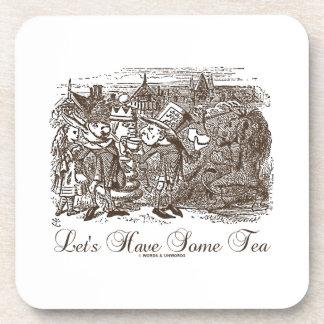 Let's Have Some Tea Wonderland Alice Haigha Hatta Drink Coaster