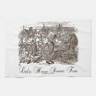 Let's Have Some Tea Wonderland Alice Haigha Hatta Hand Towels