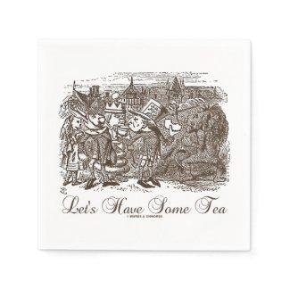 Let's Have Some Tea Wonderland Alice Haigha Hatta Standard Cocktail Napkin