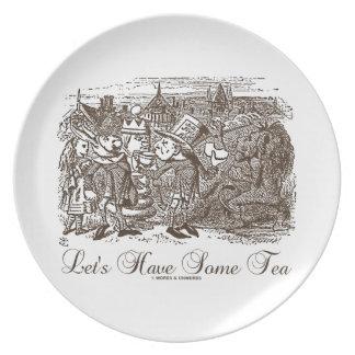 Let's Have Some Tea Wonderland Alice Haigha Hatta Plate