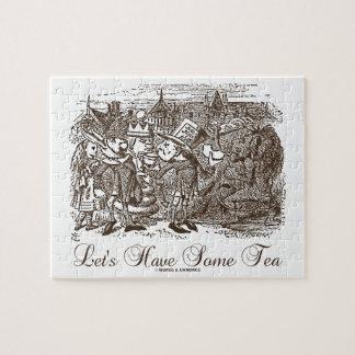 Let's Have Some Tea (Wonderland Alice) Jigsaw Puzzle