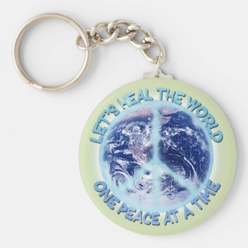Let's heal the World Sticker Key Chains