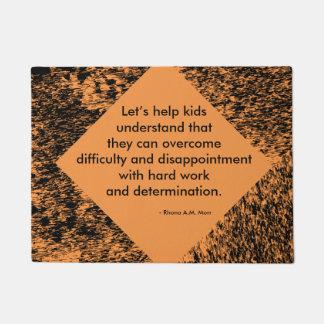 """Let's Help Kids '18"""" x 24"""" Door Mat"""