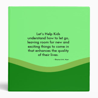 """Let's Help Kids 3 Ring Avery Signature 1.5"""" Binder"""