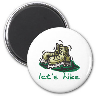 Let's Hike Green 2 Inch Round Magnet