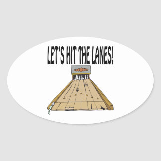 Lets Hit The Lanes Oval Sticker