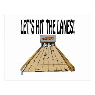 Lets Hit The Lanes Postcards