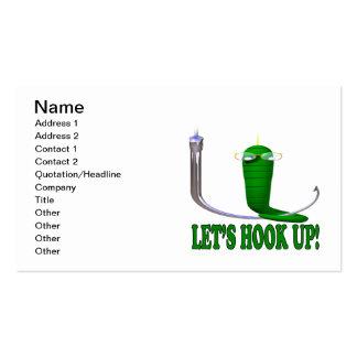 Lets Hook Up 2 Business Card