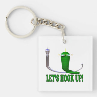 Lets Hook Up 2 Keychain
