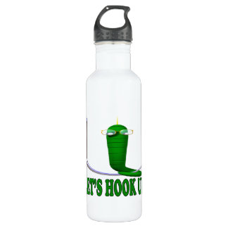 Lets Hook Up 2 Stainless Steel Water Bottle
