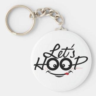 Let's Hoop key chains