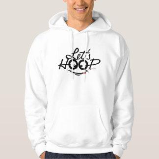 Let's Hoop: Men's basic hooded sweatshirt