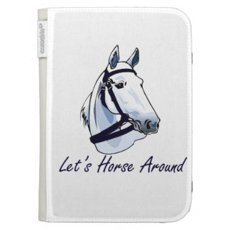 Lets Horse Around Arabian Blue Halter Kindle Covers