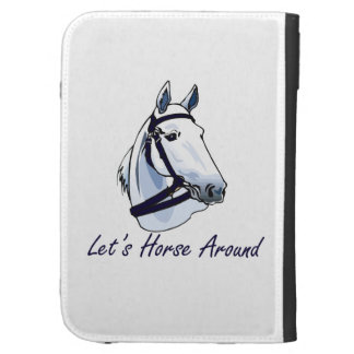 Lets Horse Around Arabian Blue Halter Case For The Kindle