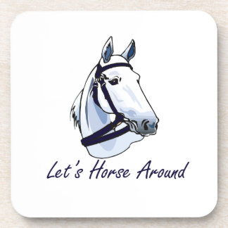 Lets Horse Around Arabian Blue Halter Drink Coasters