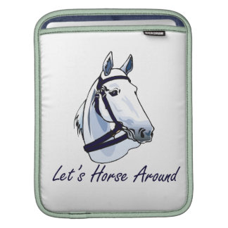 Lets Horse Around Arabian Blue Halter iPad Sleeve
