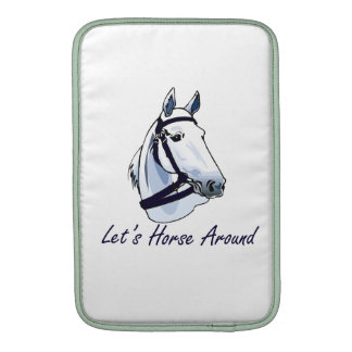 Lets Horse Around Arabian Blue Halter Sleeves For iPads