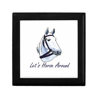 Lets Horse Around Arabian Blue Halter Jewelry Box