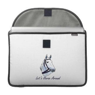 Lets Horse Around Arabian Blue Halter MacBook Pro Sleeves