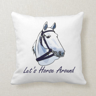 Lets Horse Around Arabian Blue Halter Pillows