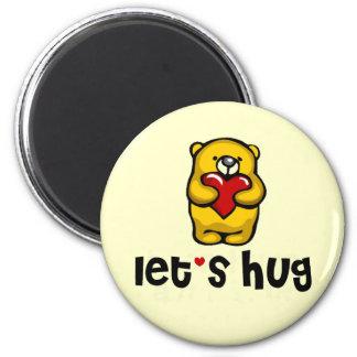 Let's Hug 2 Inch Round Magnet