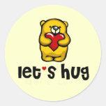 Let's Hug Classic Round Sticker