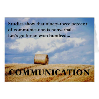 Let's improve our communications skills card