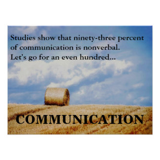 Let's improve our communications skills (L) Poster