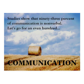 Let's improve our communications skills postcard