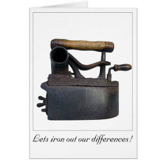 Lets iron out our differences card