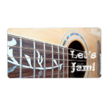 Let's Jam! Stickers Personalized Shipping Label