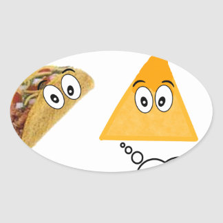 Let's Just Taco 'Bout It.png Oval Sticker