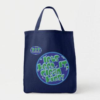 Let's keep IT clean kids! Canvas Bags