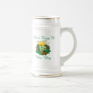 Let's Keep It This Way Earth Day Beer Stein