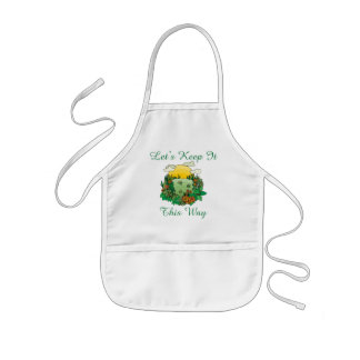 Let's Keep It This Way Earth Day Kids' Apron