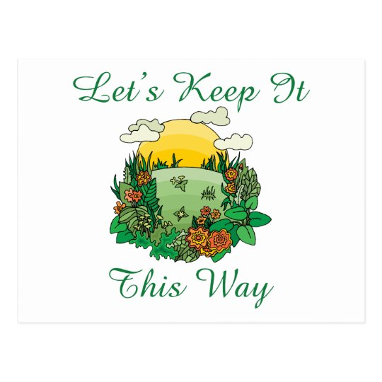 Let's Keep It This Way Earth Day Postcard