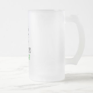 Let's Keep The World Green Frosted Glass Beer Mug