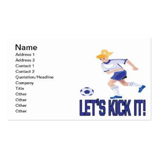 Lets Kick It Business Cards