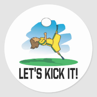 Lets Kick It Classic Round Sticker