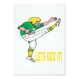 "Lets Kick It 5"" X 7"" Invitation Card"