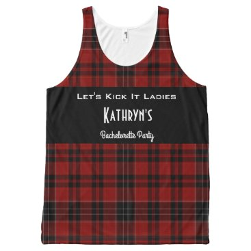 """think_out_loud """"Lets Kick It"""" Outdoor/Weekend Bachelorette Party All-Over-Print Tank Top"""