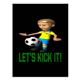 Lets Kick It Postcard
