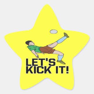 Lets Kick It Star Sticker