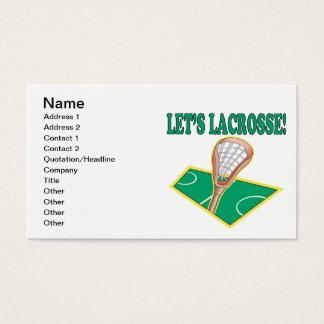 Lets Lacrosse Business Card