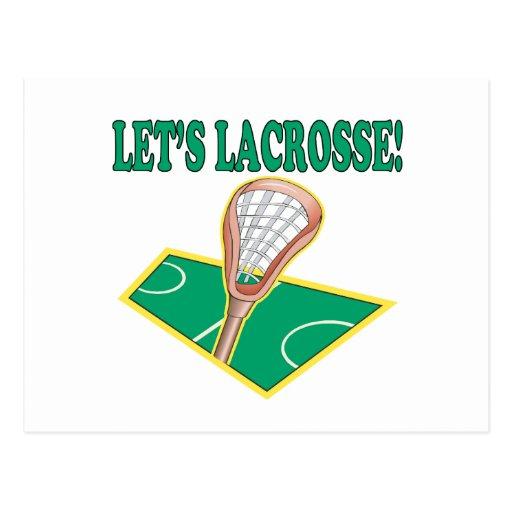 Lets Lacrosse Post Card