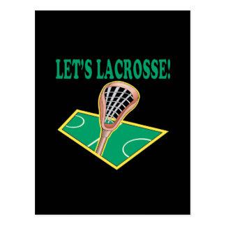 Lets Lacrosse Postcard