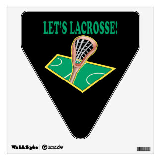 Lets Lacrosse Wall Decal