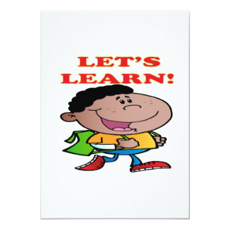 """Lets Learn 2 5"""" X 7"""" Invitation Card"""